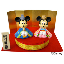 ディズニー 雛人形 ミニ(ミッキー&ミニー)