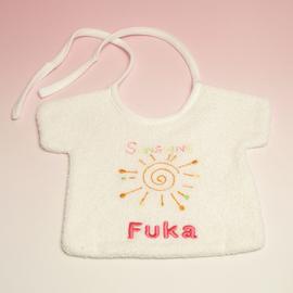 名入れ刺繍 スタイ Tシャツ(ピンク)