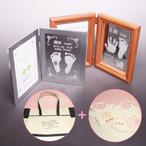 お仕立券 手形足形 彫刻写真立て セレクトギフト (出産祝い プレゼント用)